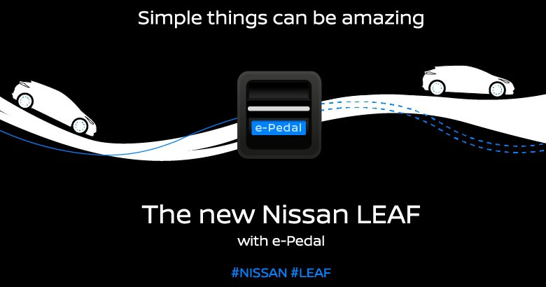 2018 nissan leaf to feature e pedal one pedal driving. Black Bedroom Furniture Sets. Home Design Ideas