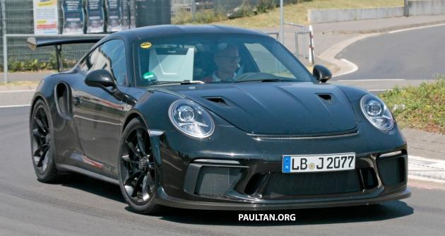 SPYSHOTS 9912 Porsche 911 GT3 RS Seen Testing