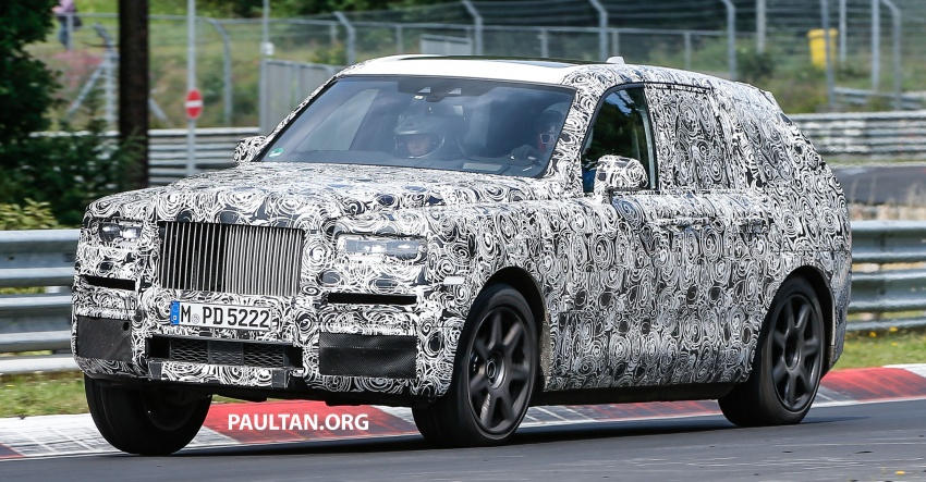 SPIED: Rolls-Royce Cullinan SUV at the Nurburgring Image #689186