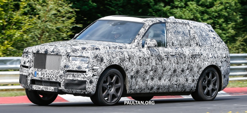 SPIED: Rolls-Royce Cullinan SUV at the Nurburgring Image #689188