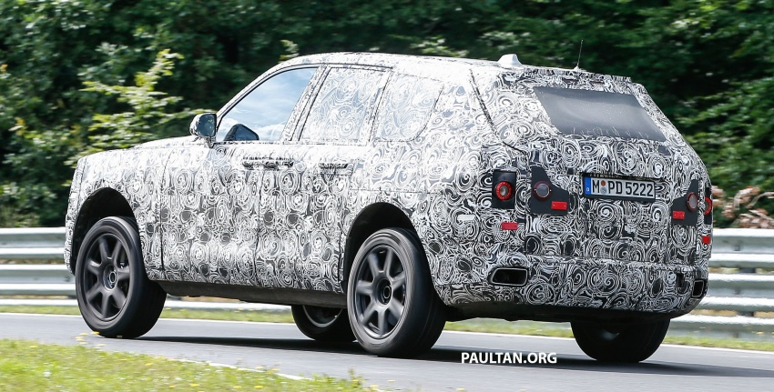 SPIED: Rolls-Royce Cullinan SUV at the Nurburgring Image #689194