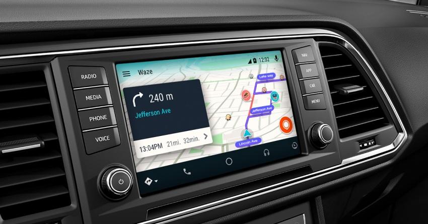 Waze kini boleh diguna melalui aplikasi Android Auto Image #688815