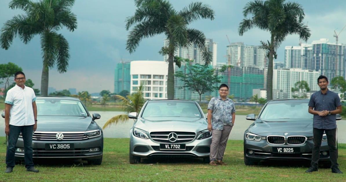 DRIVEN: BMW 330e vs Mercedes C350e vs Volkswagen Passat 2 0 TSI
