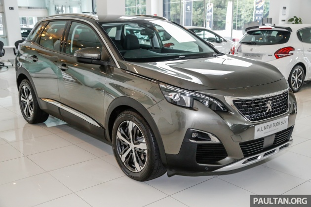 2017 peugeot 3008 launched in malaysia - 1.6l turbo engine, two