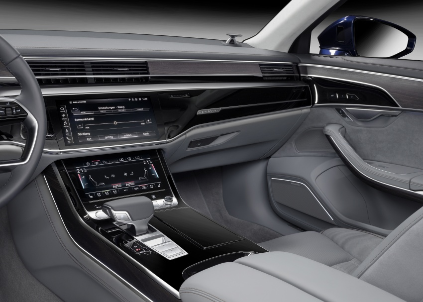 Audi A8 now comes with 3D sound for rear occupants Image #703340