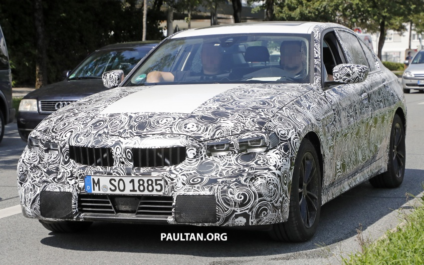 SPIED: G20 BMW 3 Series shows production lights Image #695376
