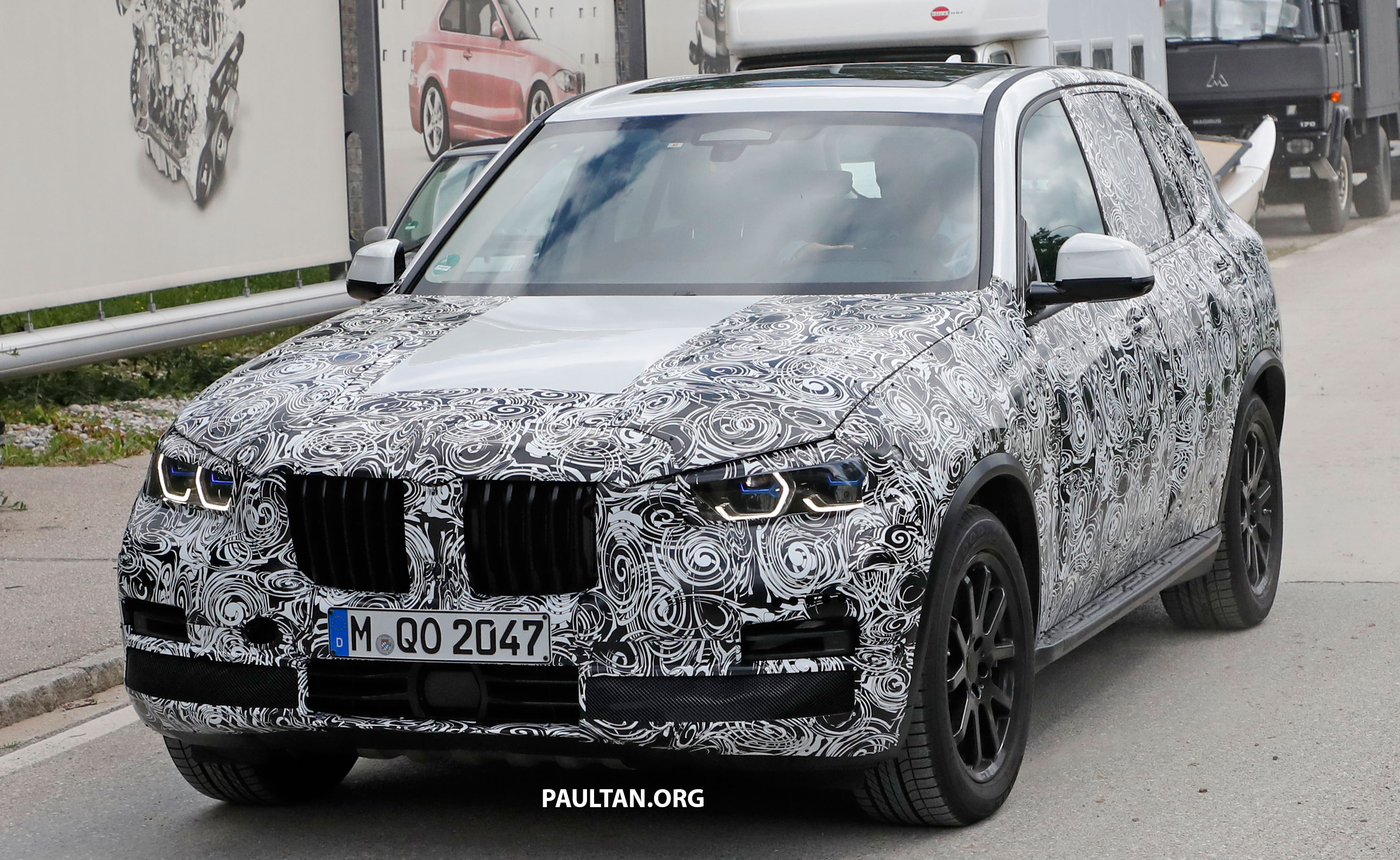 spied g05 bmw x5 seen with laserlight headlamps. Black Bedroom Furniture Sets. Home Design Ideas