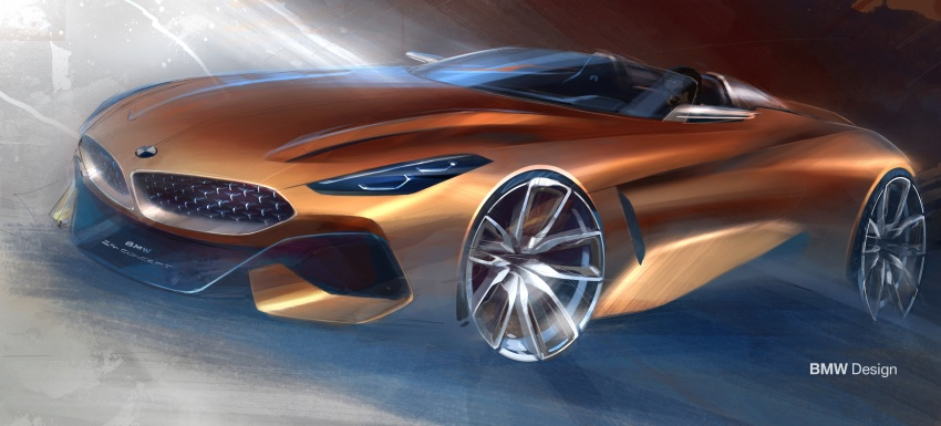 BMW Z4 Concept debuts – production roadster in 2018 Image #700490
