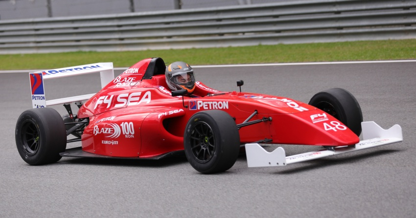 Driving a Formula 4 SEA race car fuelled by Petron Image #704246