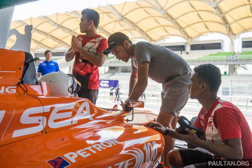 Driving a Formula 4 SEA race car fuelled by Petron Image #704649
