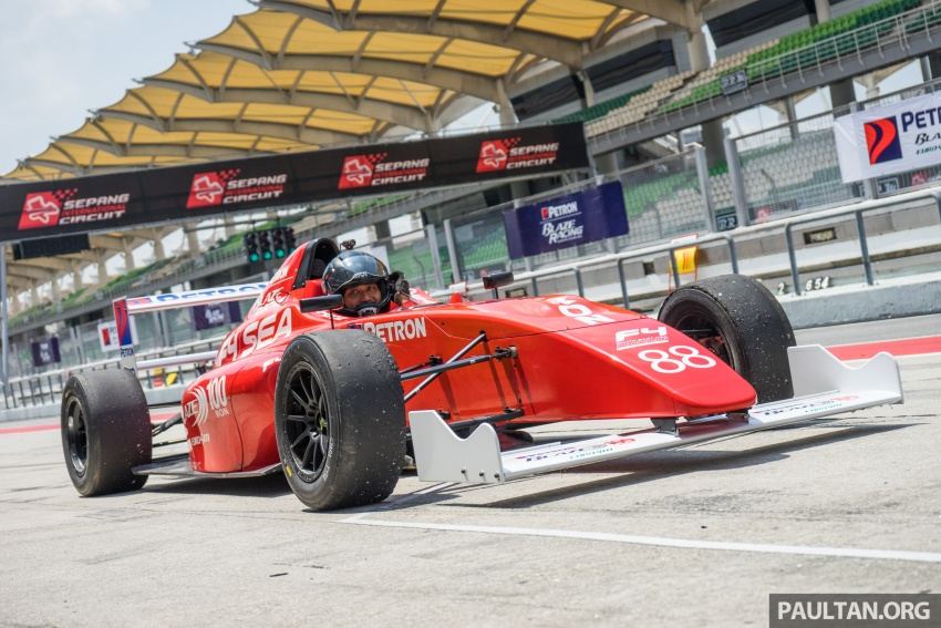 Driving a Formula 4 SEA race car fuelled by Petron Image #704655