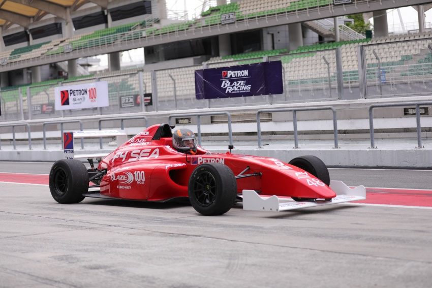 Driving a Formula 4 SEA race car fuelled by Petron Image #704245