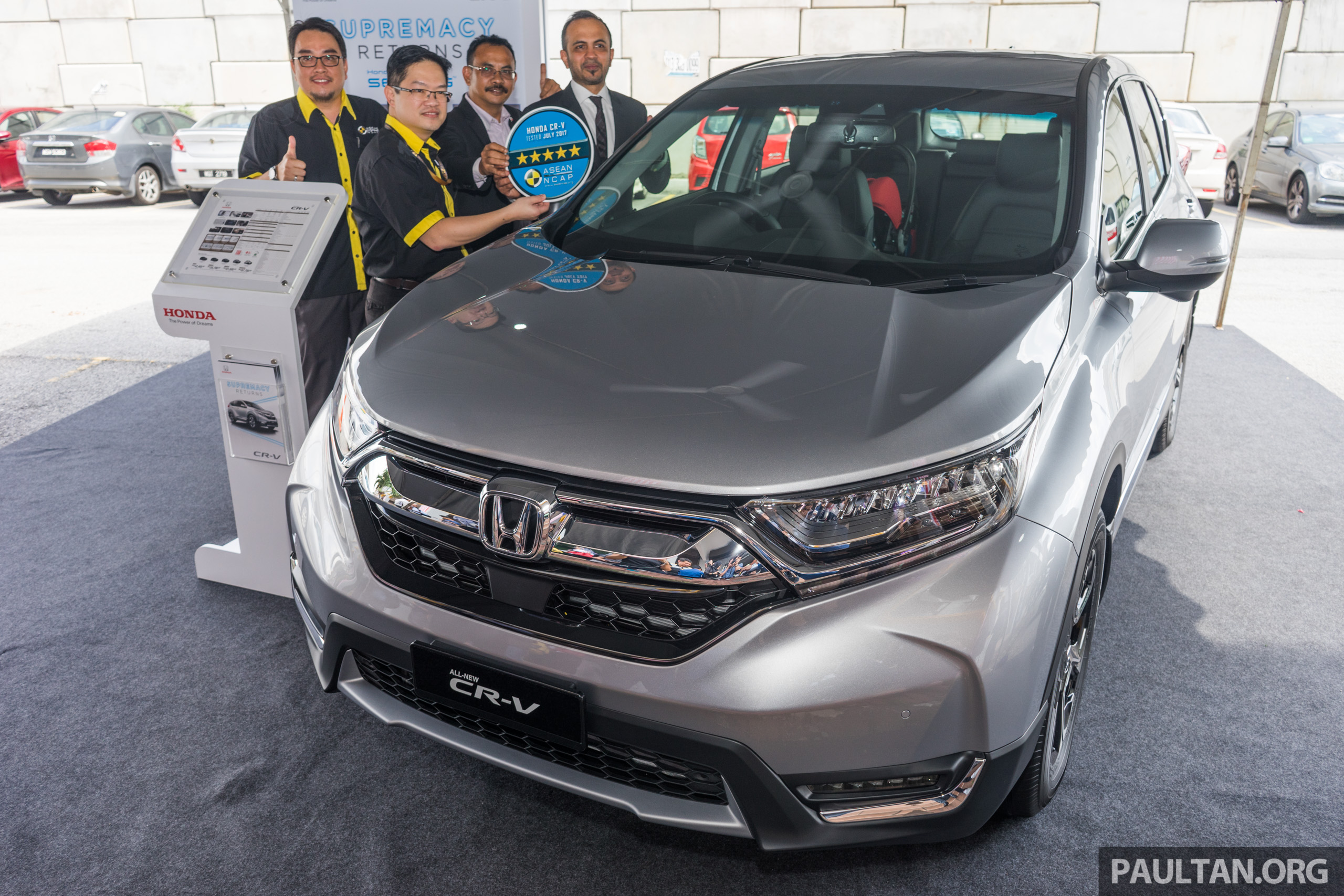 2017 honda cr v scores five star asean ncap rating. Black Bedroom Furniture Sets. Home Design Ideas