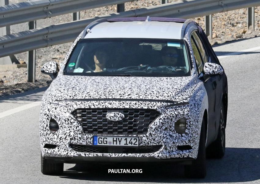 SPYSHOTS: Next-gen Hyundai Santa Fe seen testing Image #700331
