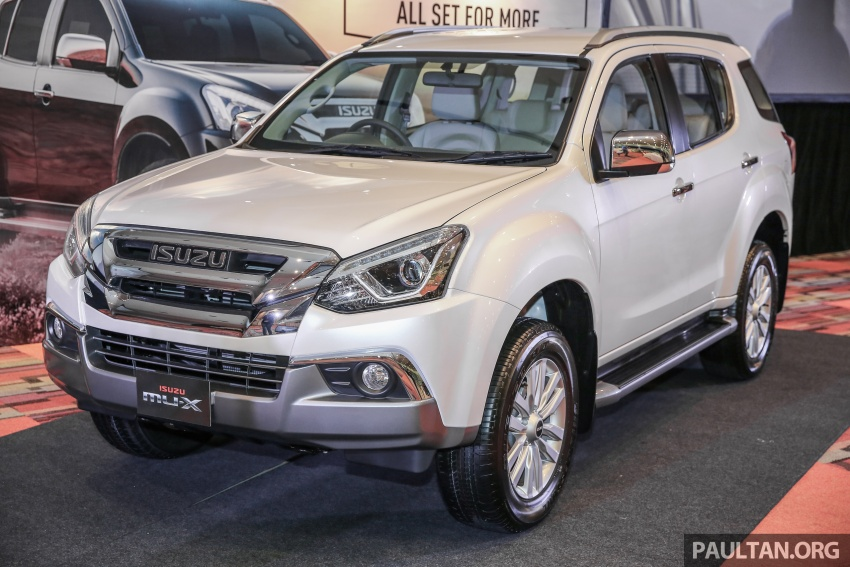 Isuzu MU-X facelift launched in Malaysia, from RM177k Image #693508