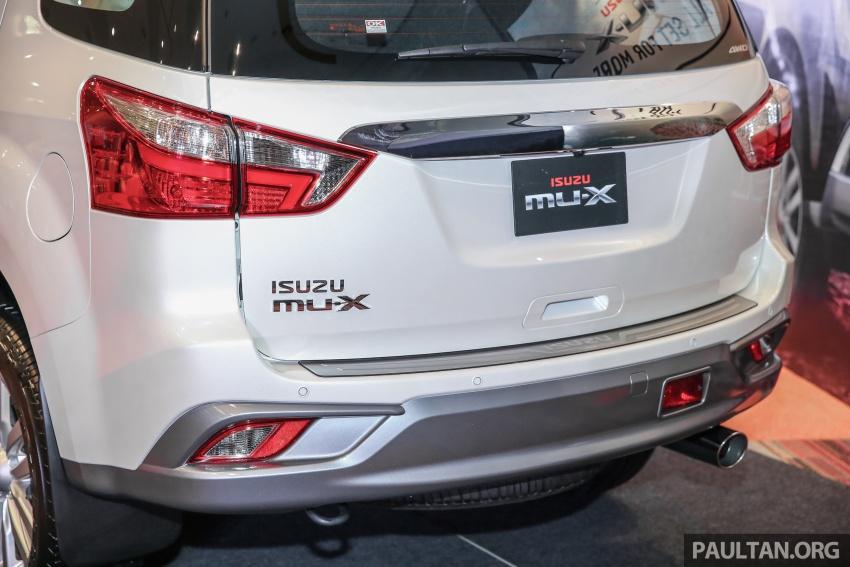 Isuzu MU-X facelift kini dilancarkan di M'sia – bermula RM177k, standard 6-beg udara, ciri lain dipertingkat Image #693600