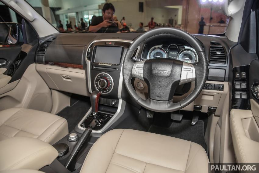 Isuzu MU-X facelift kini dilancarkan di M'sia – bermula RM177k, standard 6-beg udara, ciri lain dipertingkat Image #693632