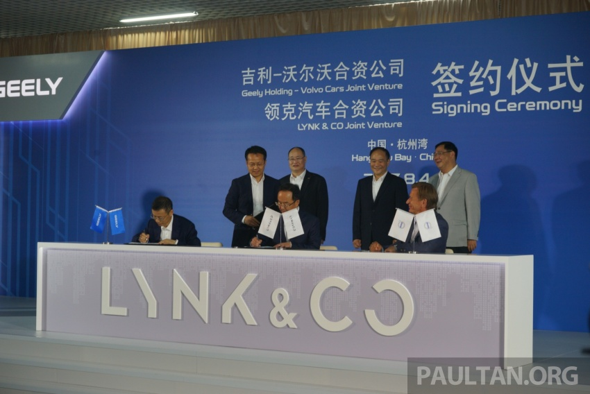 Geely and Volvo form JVs to develop Lynk & Co brand Image #693584