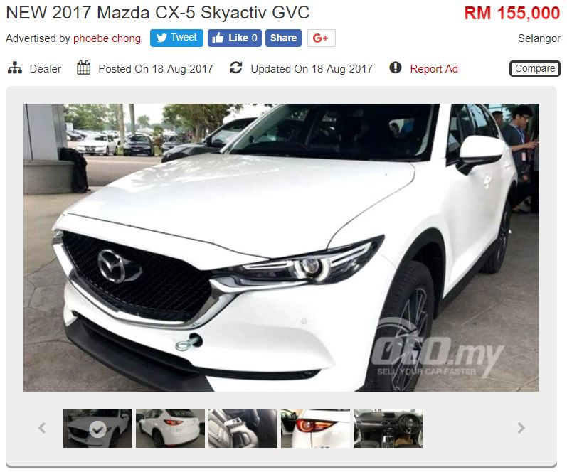2017 Mazda CX 5 Appears On Oto.my   Four Variants Available, Pricing From  RM155k, Order Books Now Open