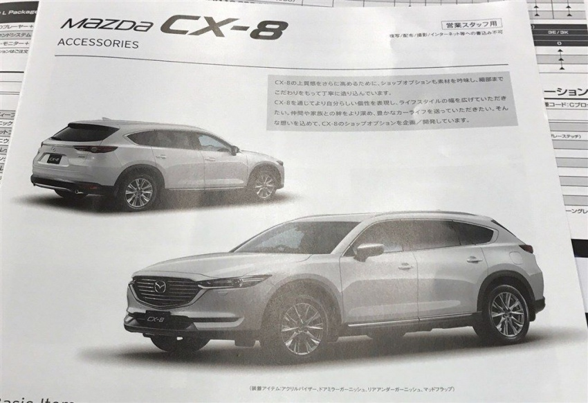 Mazda CX-8 three-row SUV shown in brochure leak Image #694224