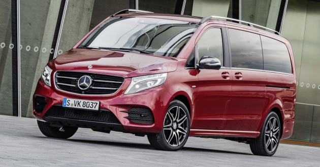 mercedes benz v class gets two new variants for iaa. Black Bedroom Furniture Sets. Home Design Ideas