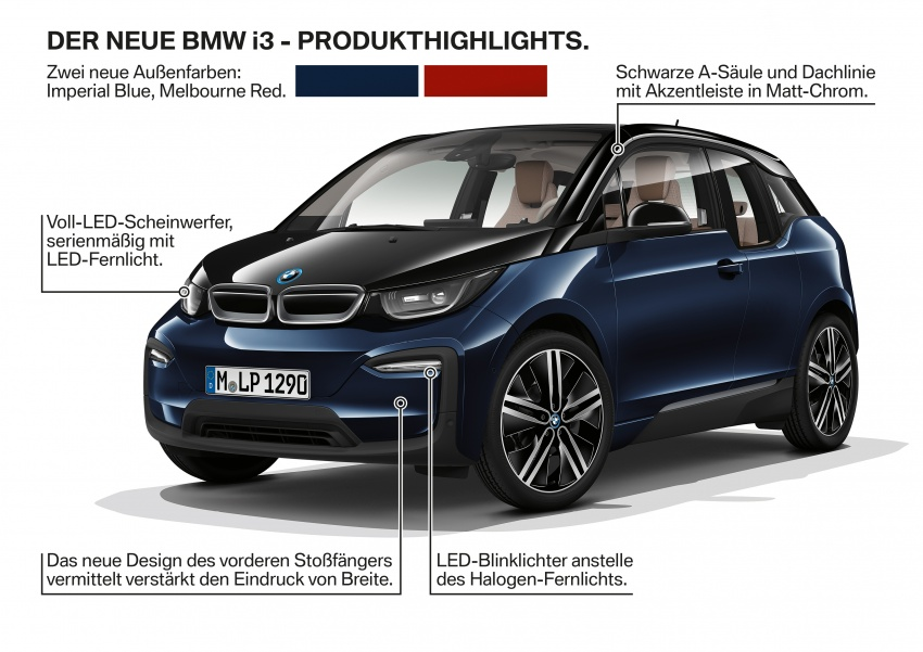 BMW i3 facelift unveiled with sportier 184 hp i3s model Image #704827
