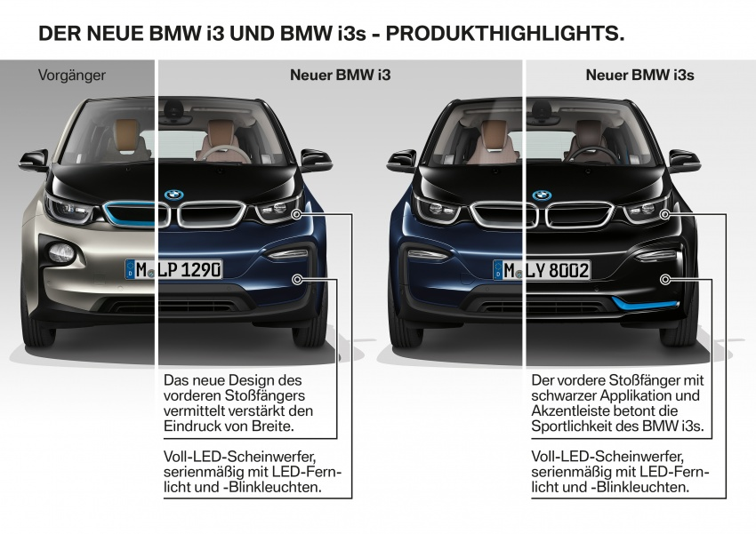 BMW i3 facelift unveiled with sportier 184 hp i3s model Image #704828