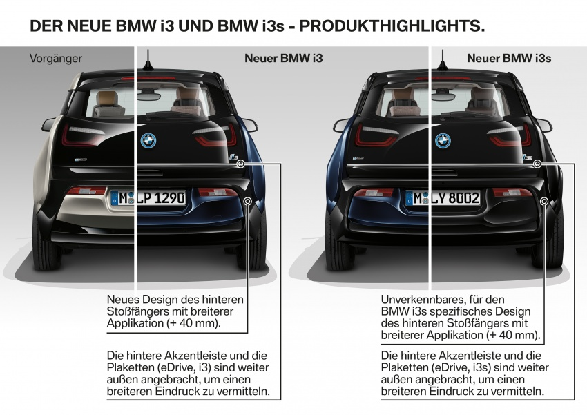 BMW i3 facelift unveiled with sportier 184 hp i3s model Image #704829