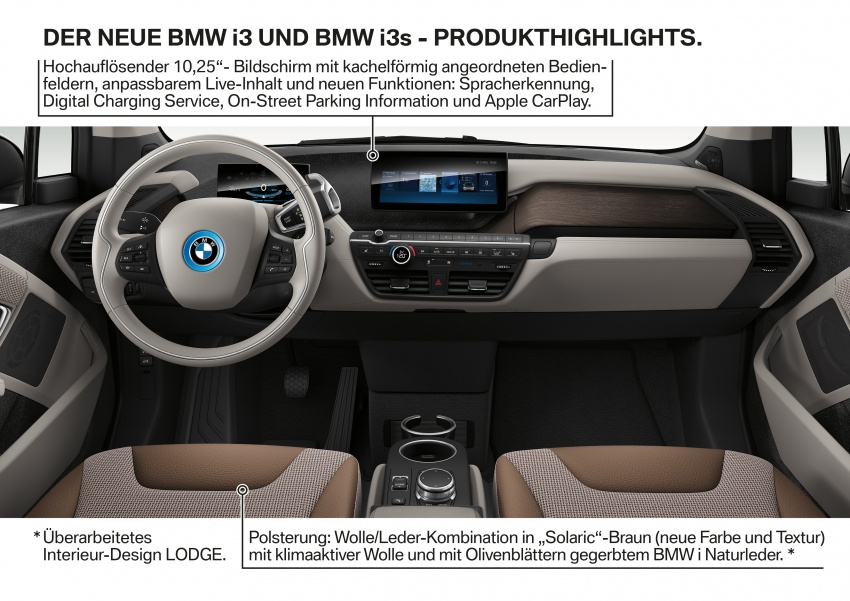 BMW i3 facelift unveiled with sportier 184 hp i3s model Image #704830