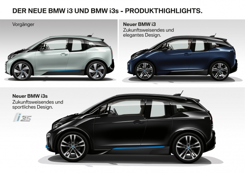 BMW i3 facelift unveiled with sportier 184 hp i3s model Image #704831