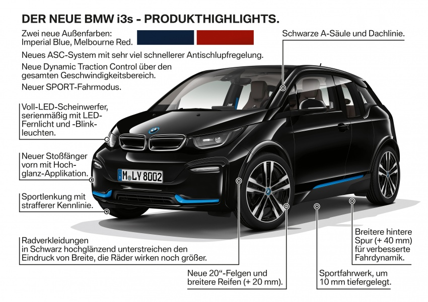 BMW i3 facelift unveiled with sportier 184 hp i3s model Image #704832