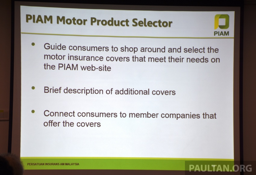 PIAM introduces Motor Product Selector – online platform offers easy shopping for motor insurance Image #702527