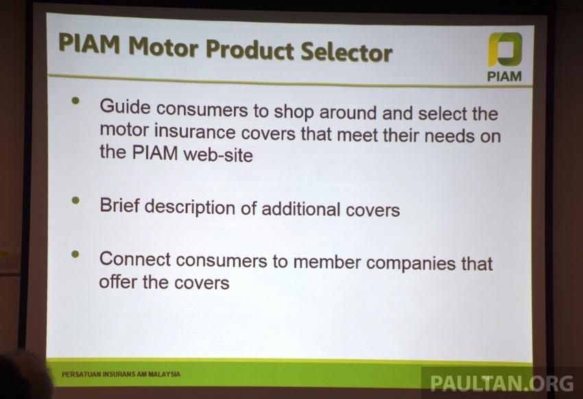 PIAM perkenal ciri pemilihan insurans di laman web Image #702624