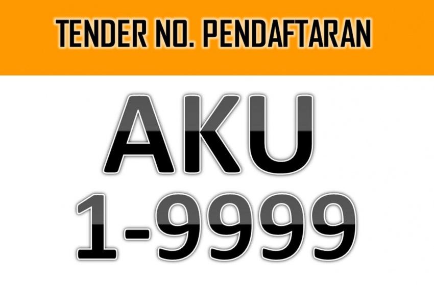 'AKU 1' plate fetches JPJ RM208k, 'AKU 8055' RM74k Image #703276