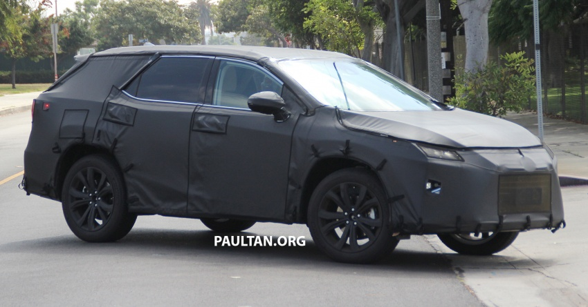 SPYSHOTS: Lexus RX with three-row seating tested Image #702509