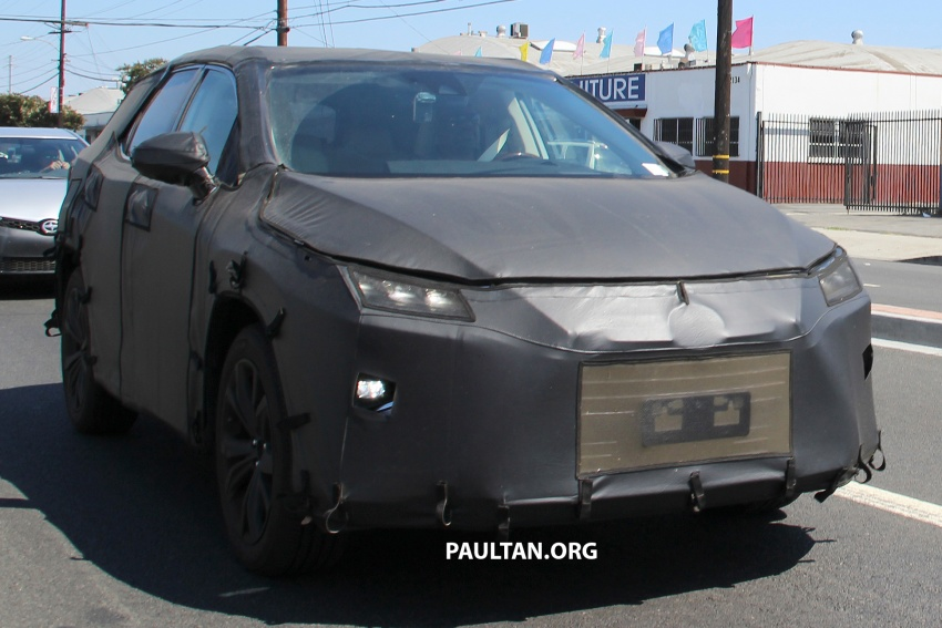 SPYSHOTS: Lexus RX with three-row seating tested Image #702510