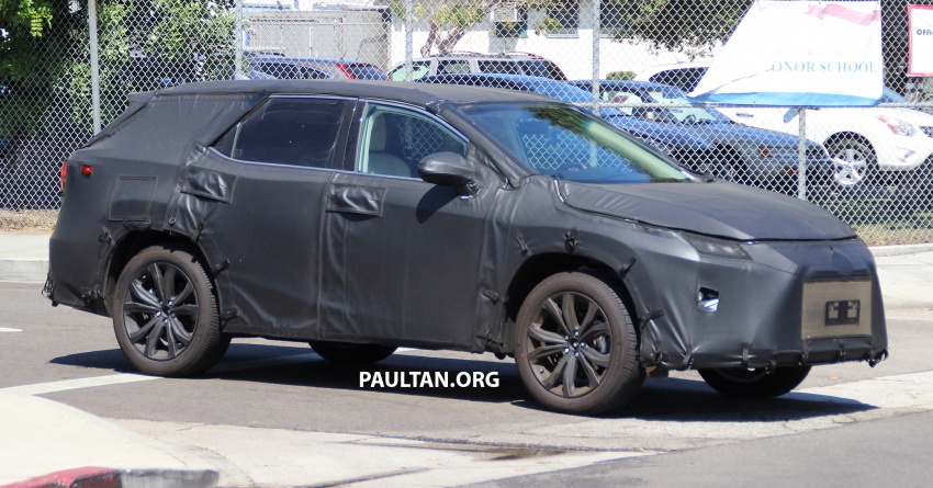 SPYSHOTS: Lexus RX with three-row seating tested Image #702511