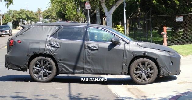 Lexus 7 Seater >> Spyshots Lexus Rx With Three Row Seating Tested
