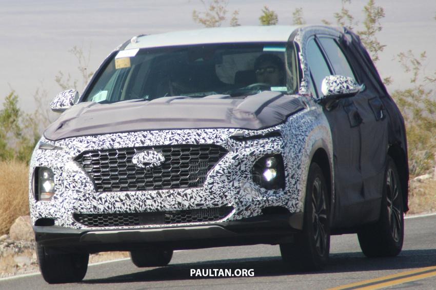 SPYSHOTS: Next-gen Hyundai Santa Fe seen testing Image #700296