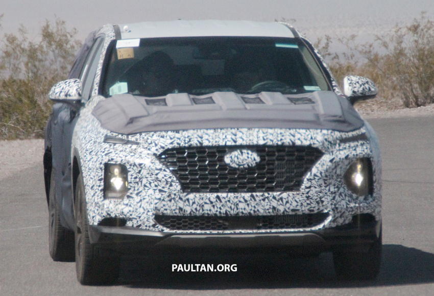 SPYSHOTS: Next-gen Hyundai Santa Fe seen testing Image #700297