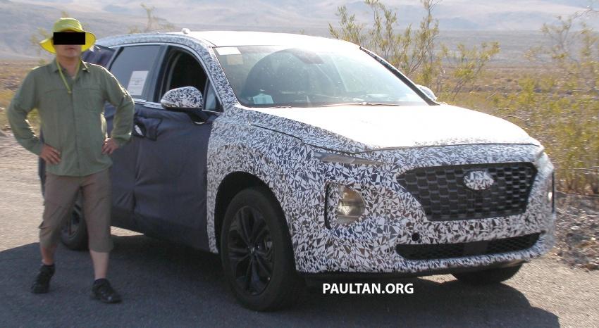 SPYSHOTS: Next-gen Hyundai Santa Fe seen testing Image #700299