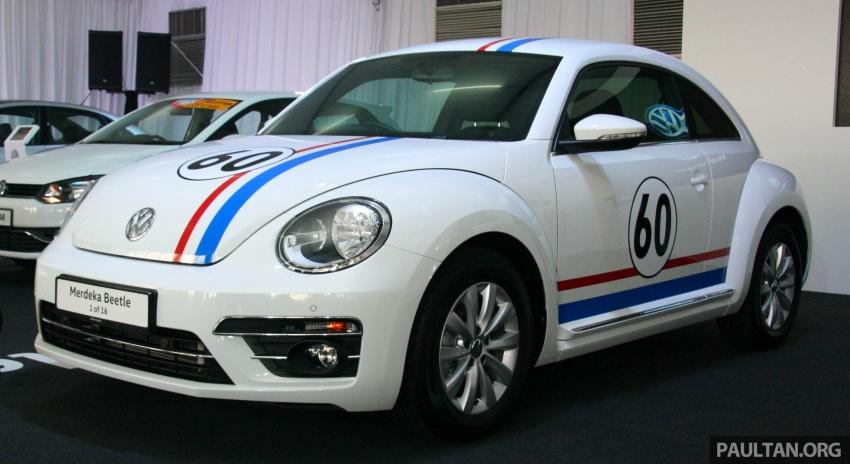 Volkswagen Beetle Edisi Merdeka ke-60 dilancarkan – imej seperti 'Herbie', terhad hanya 16 unit, RM136,888 Image #697174