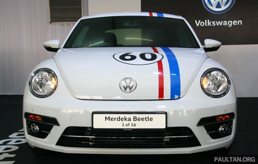 Volkswagen Beetle Edisi Merdeka ke-60 dilancarkan – imej seperti 'Herbie', terhad hanya 16 unit, RM136,888 Image #697254