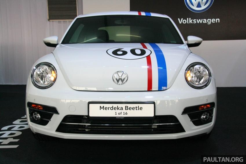 Volkswagen Beetle Edisi Merdeka ke-60 dilancarkan – imej seperti 'Herbie', terhad hanya 16 unit, RM136,888 Image #697259