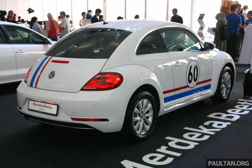 Volkswagen Beetle Edisi Merdeka ke-60 dilancarkan – imej seperti 'Herbie', terhad hanya 16 unit, RM136,888 Image #697291