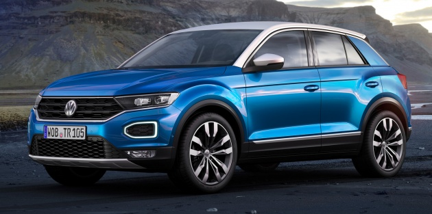 volkswagen t roc revealed mqb based crossover. Black Bedroom Furniture Sets. Home Design Ideas