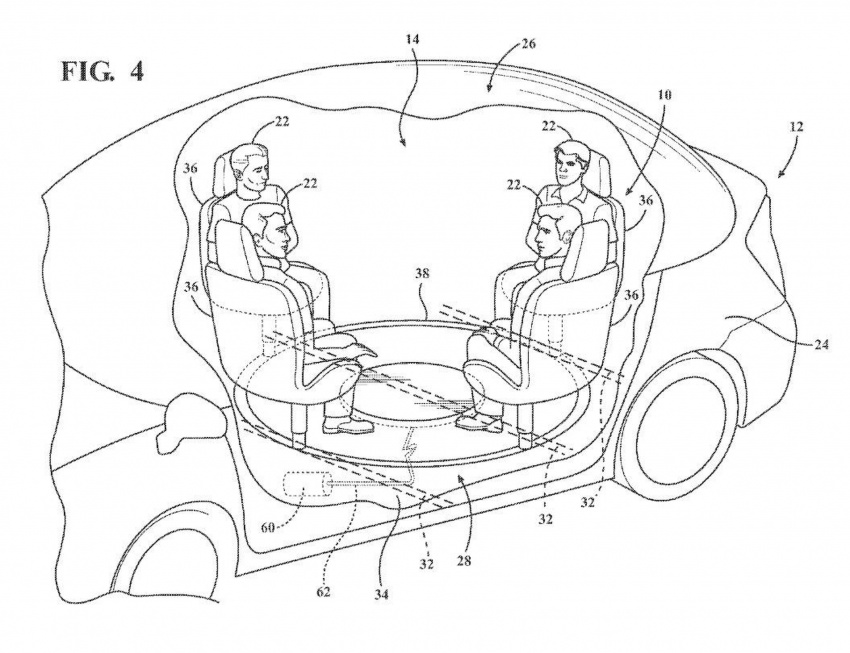 Ford files patent for retractable table with airbag Image #713664