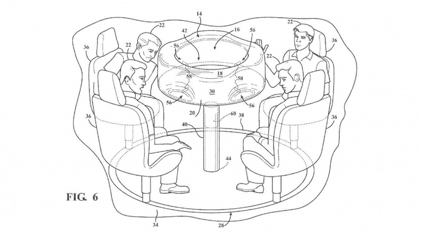 Ford files patent for retractable table with airbag Image #713666