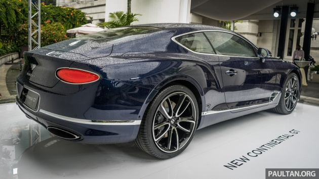 Gt Continental 2018 >> 2018 Bentley Continental Gt Previewed In Singapore