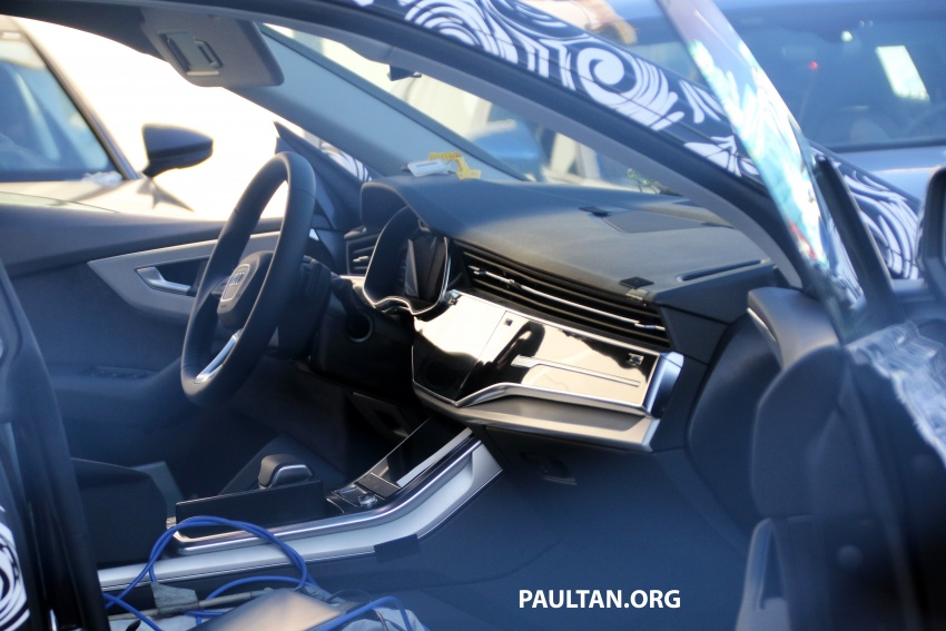 SPIED: Audi Q8 with more appropriate interior spotted Image #713572